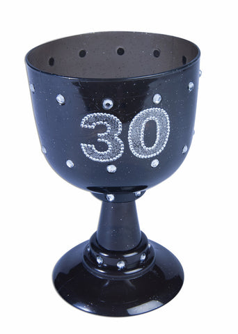 BLACK BIRTHDAY GOBLET  30 EACH