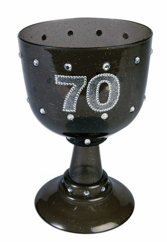 BLACK BIRTHDAY GOBLET  70 EACH