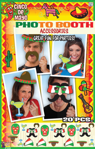 PHOTO BOOTH ACCESSORIES 6PCS/PKG CINCO DE MAYO