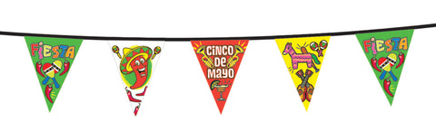 CINCO DE MAYO PENNANT BANNER   12' LONG