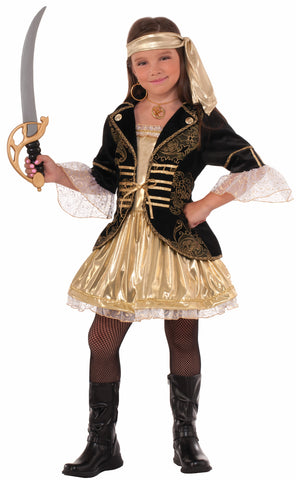 GOLDEN SEAS PIRATE COSTUME CHILD