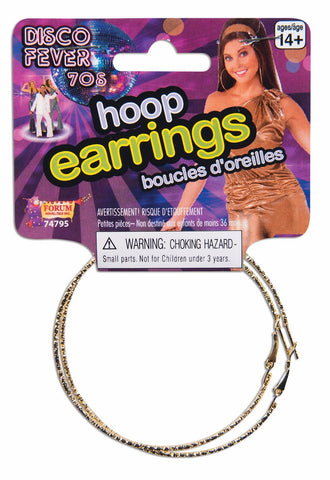 DISCO GOLD HOOP EARRINGS