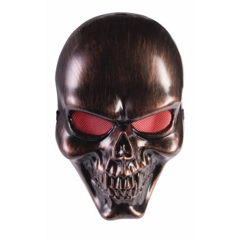 BRONZE SKULL MASK ADULT SIZE