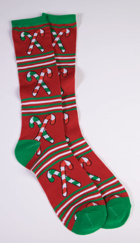 UGLY CANDY CANE ANKLE SOCKS