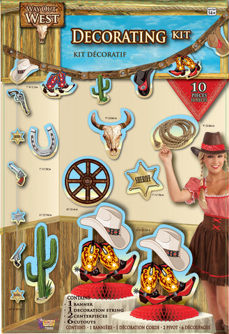 WESTERN ROOM DECORATING KIT