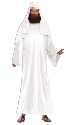 WHITE WISE MAN COSTUME - ADULT EXTRA LARGE
