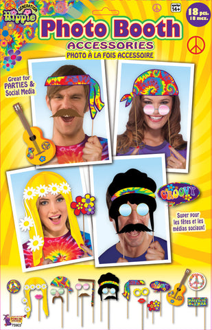 HIPPIE DECORE PHOTO PROPS 18PCS/PKG