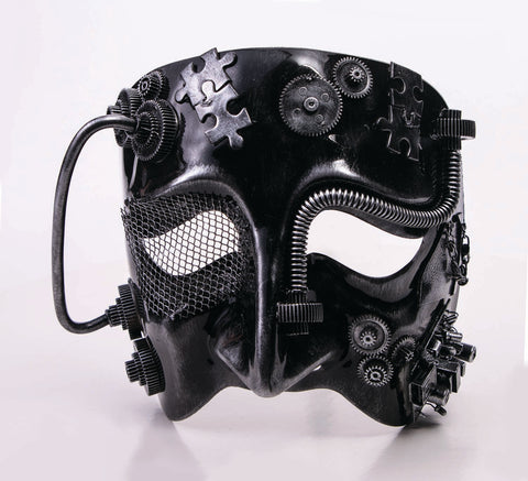 Steampunk Silver Eye Mask