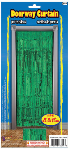 Green Metallic Doorway Curtain