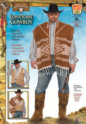 Western Lonesome Cowboy - Adult Plus Size Costume
