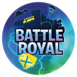 "BATTLE ROYAL 9"" PAPER PLATES 8CT"