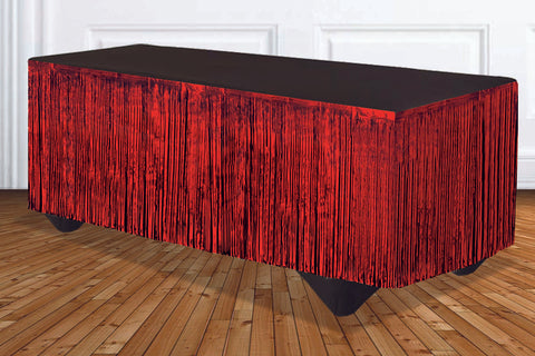 Red Metallic Tableskirt
