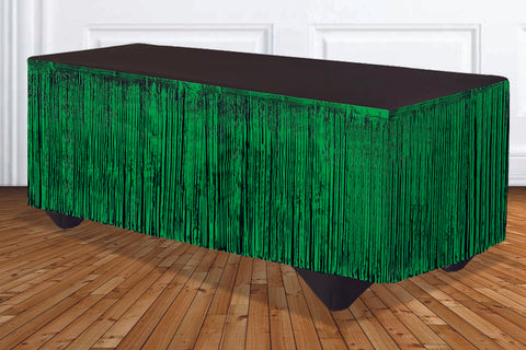 Green Metallic Tableskirt