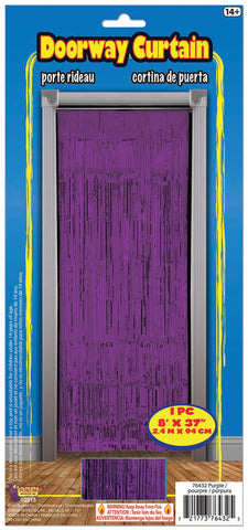 Purple Metallic Doorway Curtain