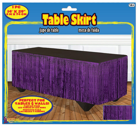 PURPLE METALLIC TABLESKIRT