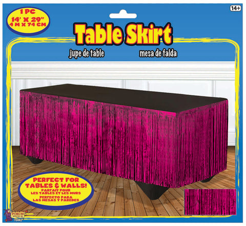 Hot Pink Metallic Tableskirt