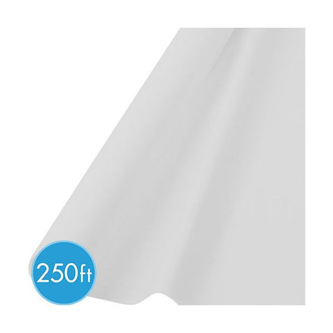 WHITE TABLECOVER  250'