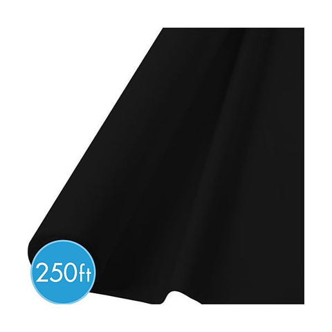 BLACK TABLECOVER  250'