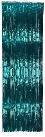 Teal Metallic Doorway Curtain