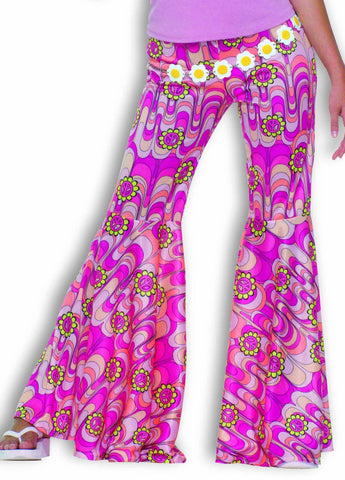 Flower Power Bell Bottom Pants - Adult Size