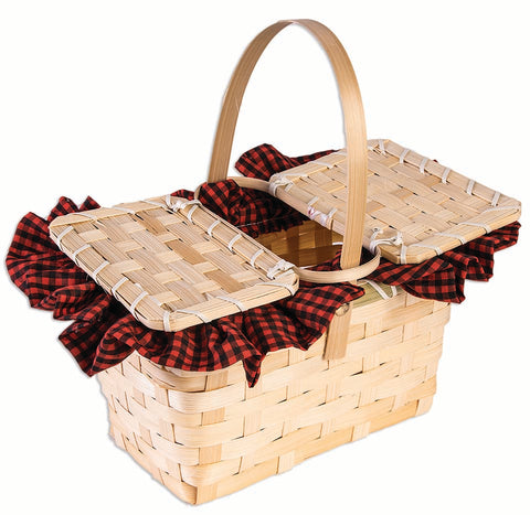 Little Red Gingham Basket