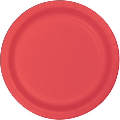"CORAL 7"" PAPER PLATES"