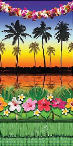 Luau Photo Backdrop Set