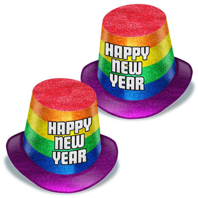 Happy New Year Pride Top Hat