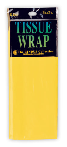 "TISSUE WRAP - CANARY YELLOW  20"" x 20""  10 pc"