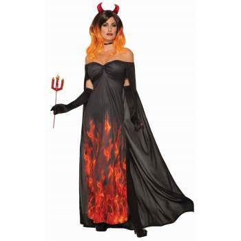 ELEGANT DEVIL DRESS ADULT COSTUME