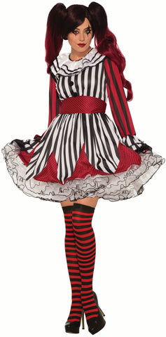 Miss Mischief Clown - Adult Costume