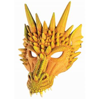 DRAGON HALF MASK - YELLOW