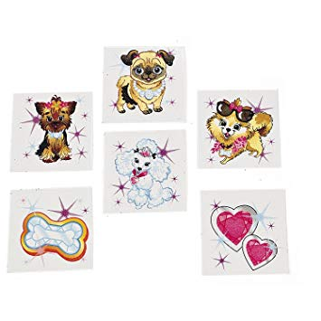 BLING PUPPY TATTOOS