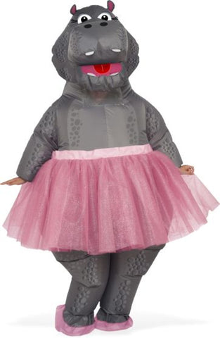 INFLATABLE HIPPO BALLERINA COSTUME - ADULT