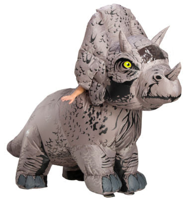 INFLATABLE JURASSIC WORLD TRICERATOPS COSTUME - ADULT