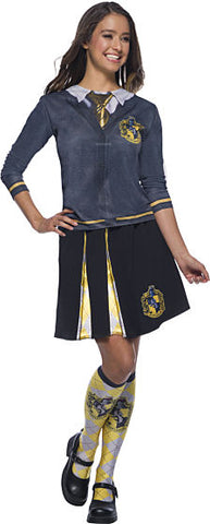 HARRY POTTER HUFFLEPUFF COSTUME TOP - ADULT