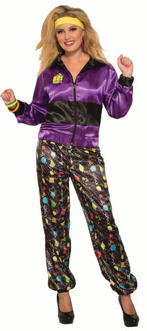 80's Female Tracksuit  - Adult Costume