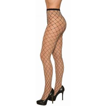 WIDE FISHNET TIGHTS WITH RHINESTONES ADULT SIZE