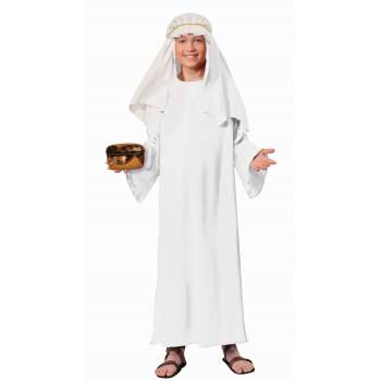 WHITE WISEMAN ROBE CHILD COSTUME