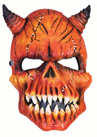 Devil Pumpkin Half Mask