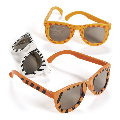 SUNGLASSES - ANIMAL PRINT                 12 CT/PK