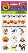 HALLOWEEN TATTOOS 2 SHEETS/PKG