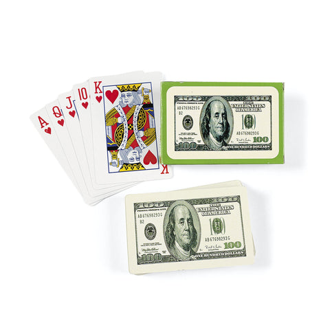 PLAYING CARDS - $100 BILL 12/UNIT