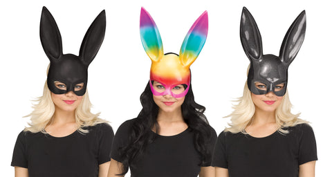 PLASTIC BUNNY MASK    3 OPTIONS