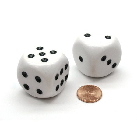 32 MM WHITE DICE