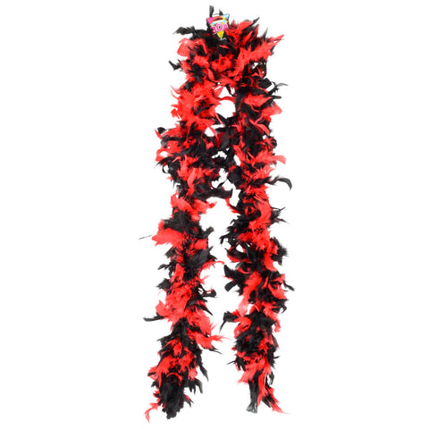 BOA - BLACK/RED FEATHER 6'