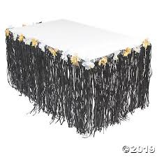 Luau Luxe Deluxe Black Table Skirt