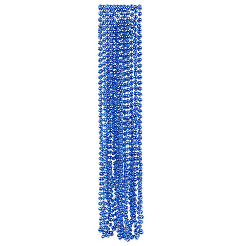 BLUE BEAD NECKLACES 12CT
