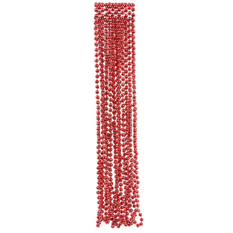 RED BEAD NECKLACES 12CT