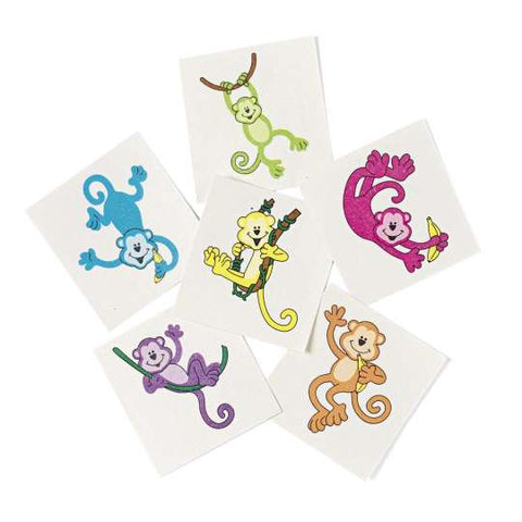 Neon Monkey Temporary Tattoos